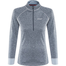 Berghaus Thermal Tech LS Zip Tee Women carbon/trade winds